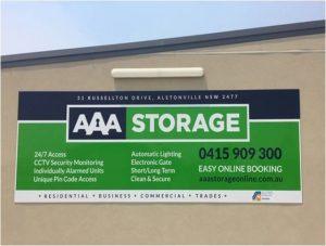 AAA Storage Sign