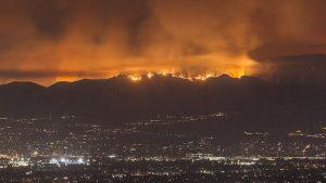 Fires on hillside