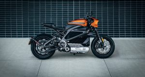 Orange and black motorbike